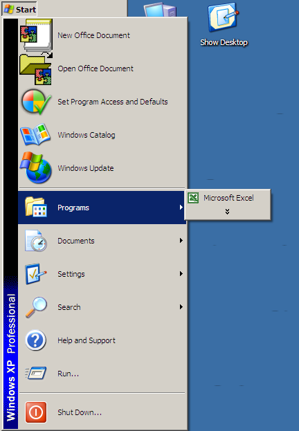 You're right, WindowsXP, Xcel is the only application I am even considering opening - why bother showing me any others? You know me so well!