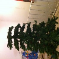 Hmm. I guess that's why the previous resident left their Christmas tree for us. (Oh well, what's 1 missing piece?...)
