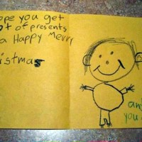 someecards: The 5 most adorably brutal or insane Christmas cards made by kids.