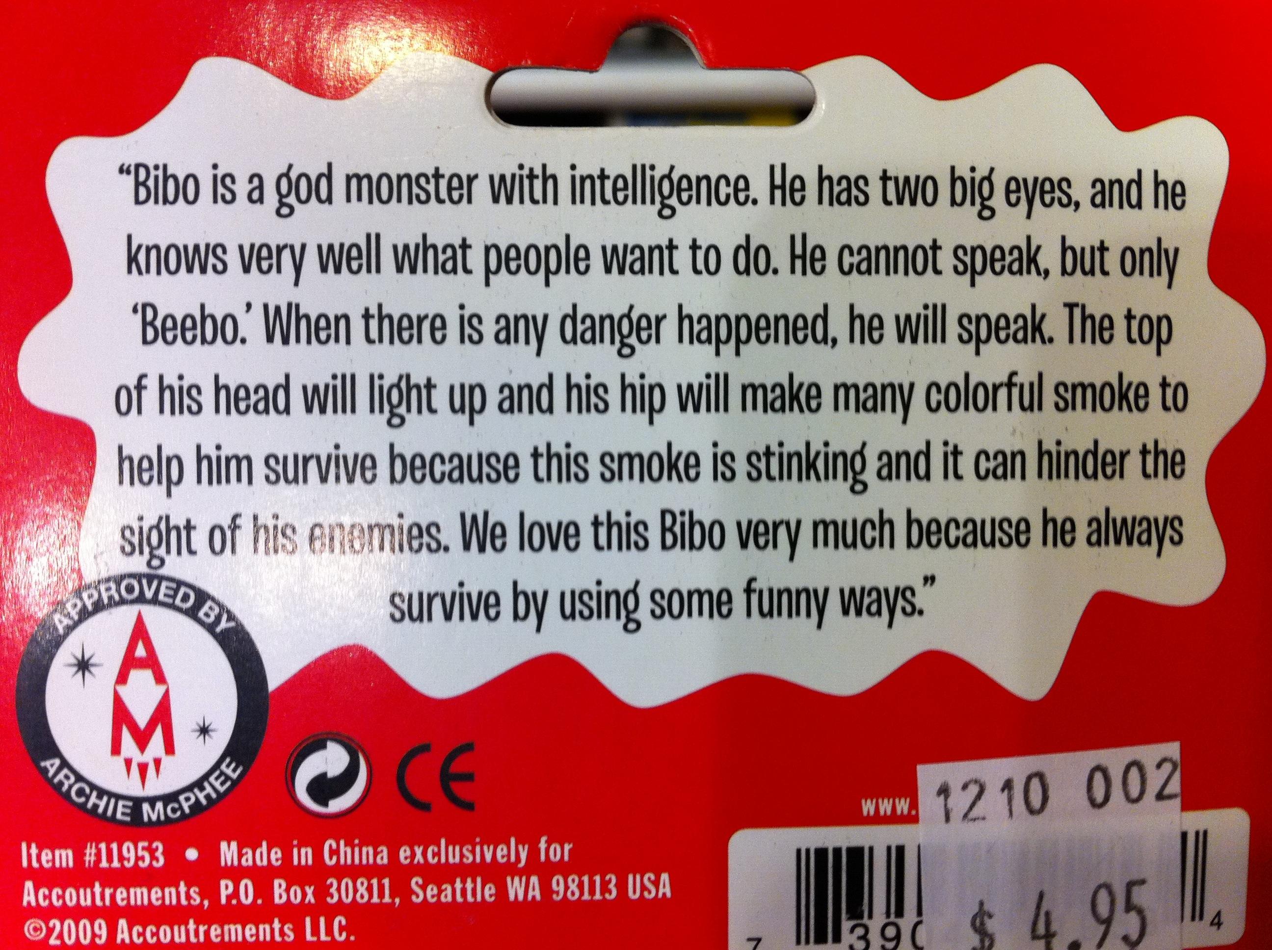 BIBO : A God Monster with Intelligence