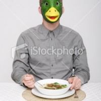 Photo of the day: Duck Mask.