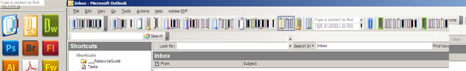 Hmm, something's not quite right with Outlook today... #ahmicrosoftyoumagnificentbastard