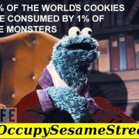 99% of the world's cookies are consumed by 1% of the monsters. #OccupySesameStreet