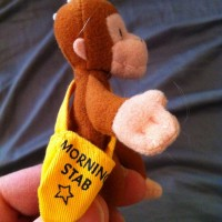 @knittaplease Ah, Curious George is here to deliver the Morning Stab!
