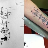 """Tattoo: Oskar's first """"monster."""""""