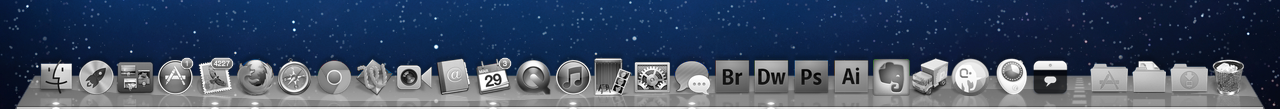 Still think #Apple messed up by removing all color from their icons in Lion. Elegant maybe but less usable.