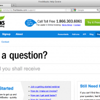 FreshBooks wins the award for Biggest Search Field Ever Created.