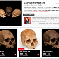 Cannibal Confections : Life-Sized Chocolate Skulls.