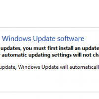 But how does it know there is an update for Windows Update if it first needs to update Windows Update before it can check for updates?... Mysterious.