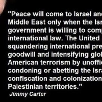 Jimmy Carter on U.S. support for Israel, peace in the Middle East