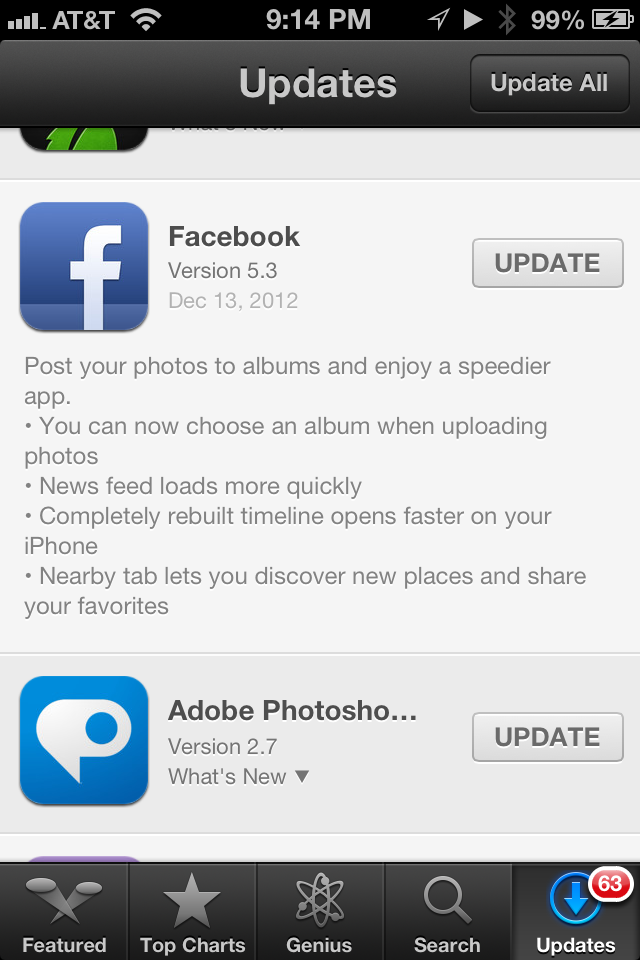 FINALLY Facebook iPhone app lets you choose an album when posting a photo. #ridiculous