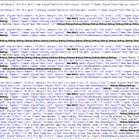 And this is why you don't export a Microsoft Word document as HTML… #SweetGodInHeaven
