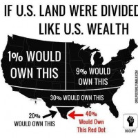 Graphic: if U.S. land were divided like U.S. wealth...