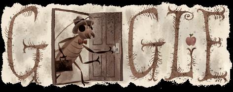 Google doodle : Franz Kafka's 130th birthday